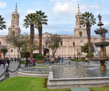 Views of the Plaza de Armas, Basilica Cathdral and colonial buil