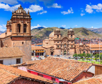 Cusco, Peru the historic capital of the Inca Empire. Plaza de Armas.