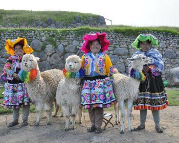 Peru locals & lamas Pixa Bay